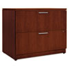 Arrive Wood Veneer Two-Drawer Lateral File, 36w x 24d x 29-1/2h, Henna Cherry