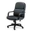 Mayline® Big & Tall Series Executive Swivel/Tilt Leather Chair with Polyurethane Arms