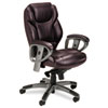 Mayline® Leather Seating Series Mid-Back Swivel/Tilt Chair