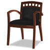 Mayline® Mercado Series Leather Seating Arch-Back Guest Chair