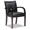 Mayline® Mercado Series Leather Seating Ladder-Back Guest Chair