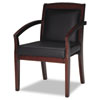 Mayline® Mercado Series Leather Seating Wood Guest Chair