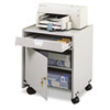 Office Machine Mobile Floor Stand, 1-Shelf, 19w x 18-1/4d x 22-1/2h, Gray
