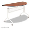 Impromptu Mobile Training Table Top, Half Round, 48w x 24d, Cherry