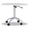 "RSVP Series Pneumatic Table Base, 28"" dia. x 27-3/4 to 36-3/4h, Silver"