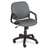 Cava Collection High-Back Swivel/Tilt Chair, Black Frame/Charcoal Fabric