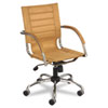 Flaunt Series Mid-Back Manager`s Chair, Camel/Chrome