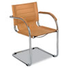 Flaunt Series Guest Chair, Camel/Chrome
