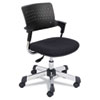 Spry Series Task Chair w/Casters, Plastic Back/Fabric Seat, Black/Chrome