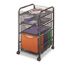 Onyx Mesh Mobile File w/Two Supply Drawers, 15-1/2w x 17d x 27h, Black