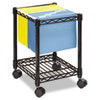 Compact Mobile Wire File Cart, 1-Shelf, 15-1/2w x 14d x 19-1/2h, Black