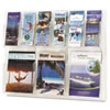 Reveal Clear Literature Displays, 9 Compartments, 30w x 2d x 22-1/2h, Clear