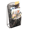 Onyx Mesh Counter Displaym 4 Compartments, 9-3/4w x 6-1/2d x 18h, Black